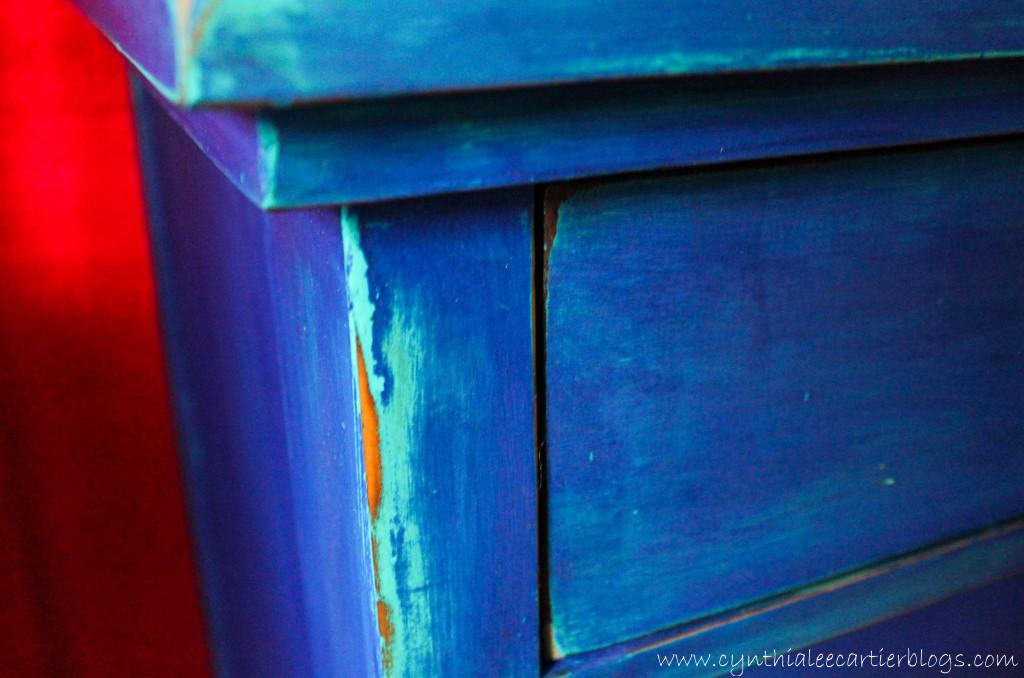 Milk Paint and Distressing an Antique Dresser... Blue???