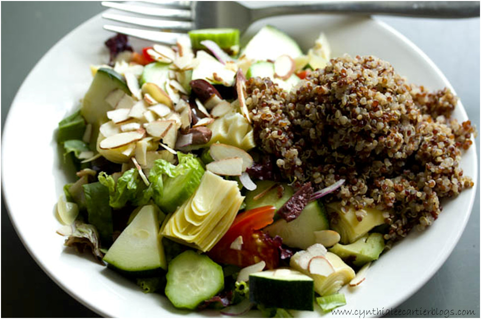 Quinoa Recipes: Beautiful Picture of a Quinoa and Artichoke Heart Salad