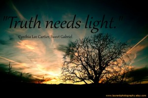 Beautiful inspirational quotes by Cynthia Lee Cartier with sunset in the background