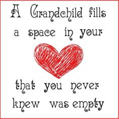 Meme: A Grandchild fills a space in your heart that you never knew was empty