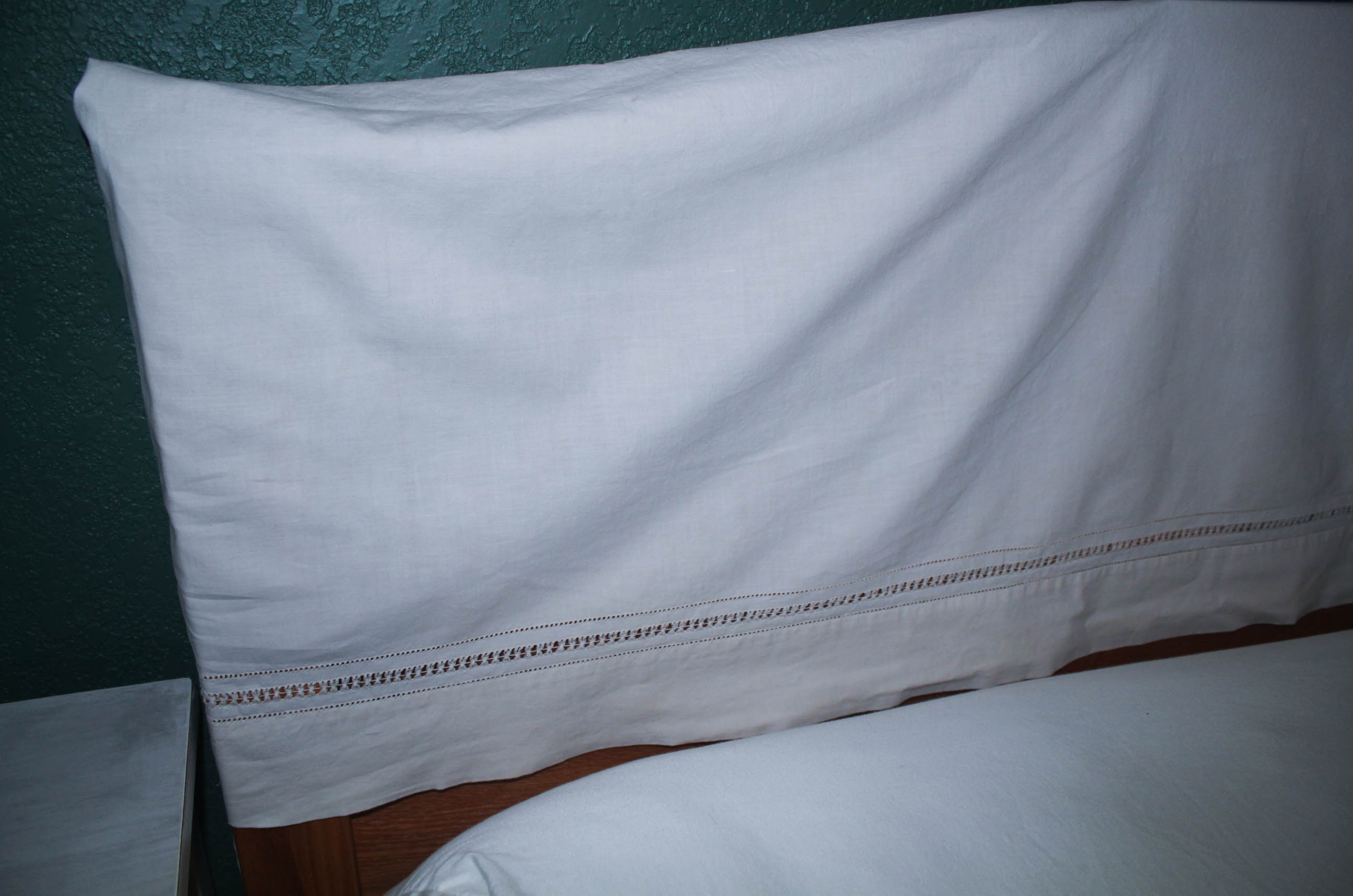 Slipcovers - Hiding a Wood Headboard