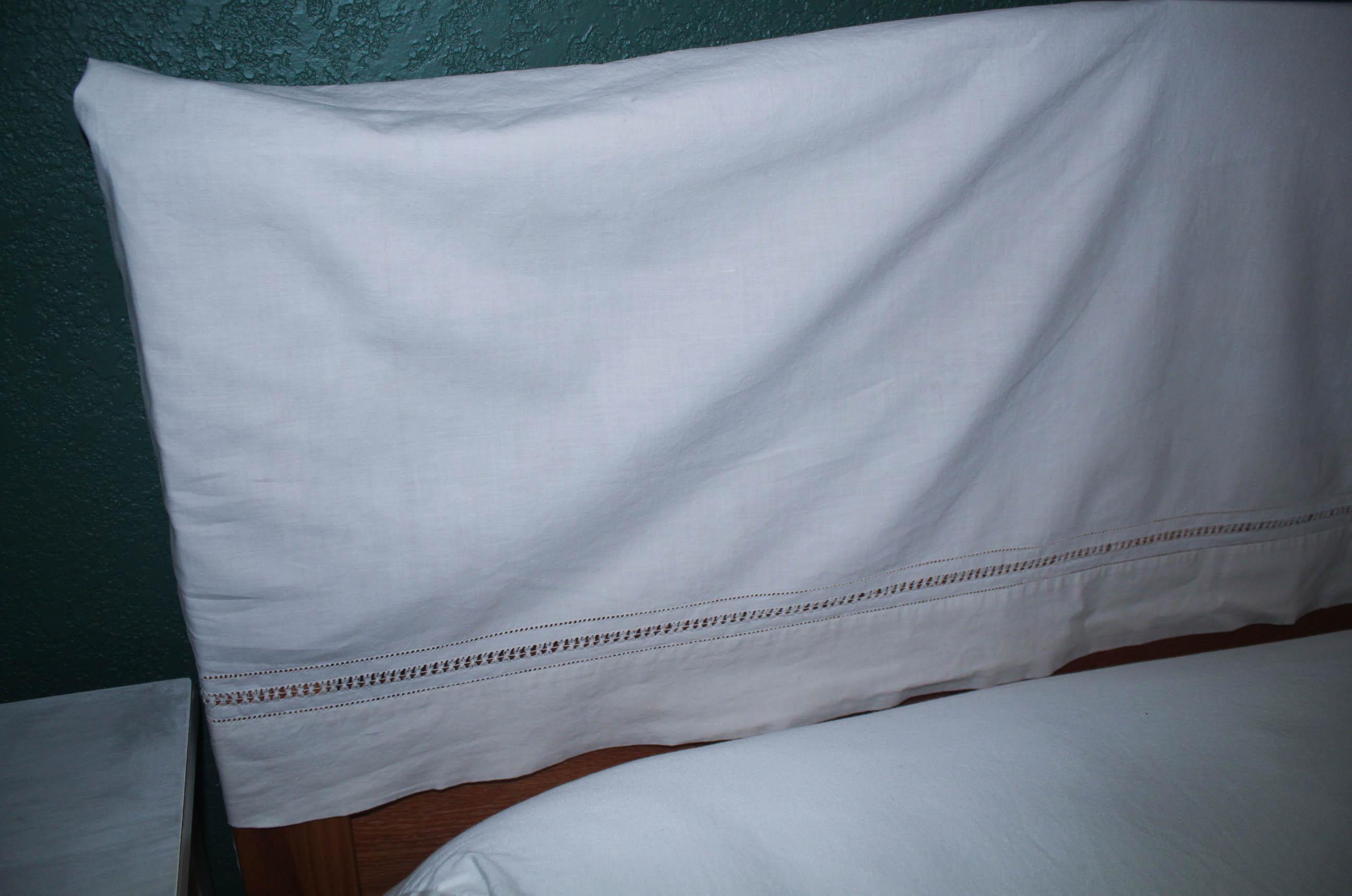 Slipcovers - Hiding a Wood Headboard