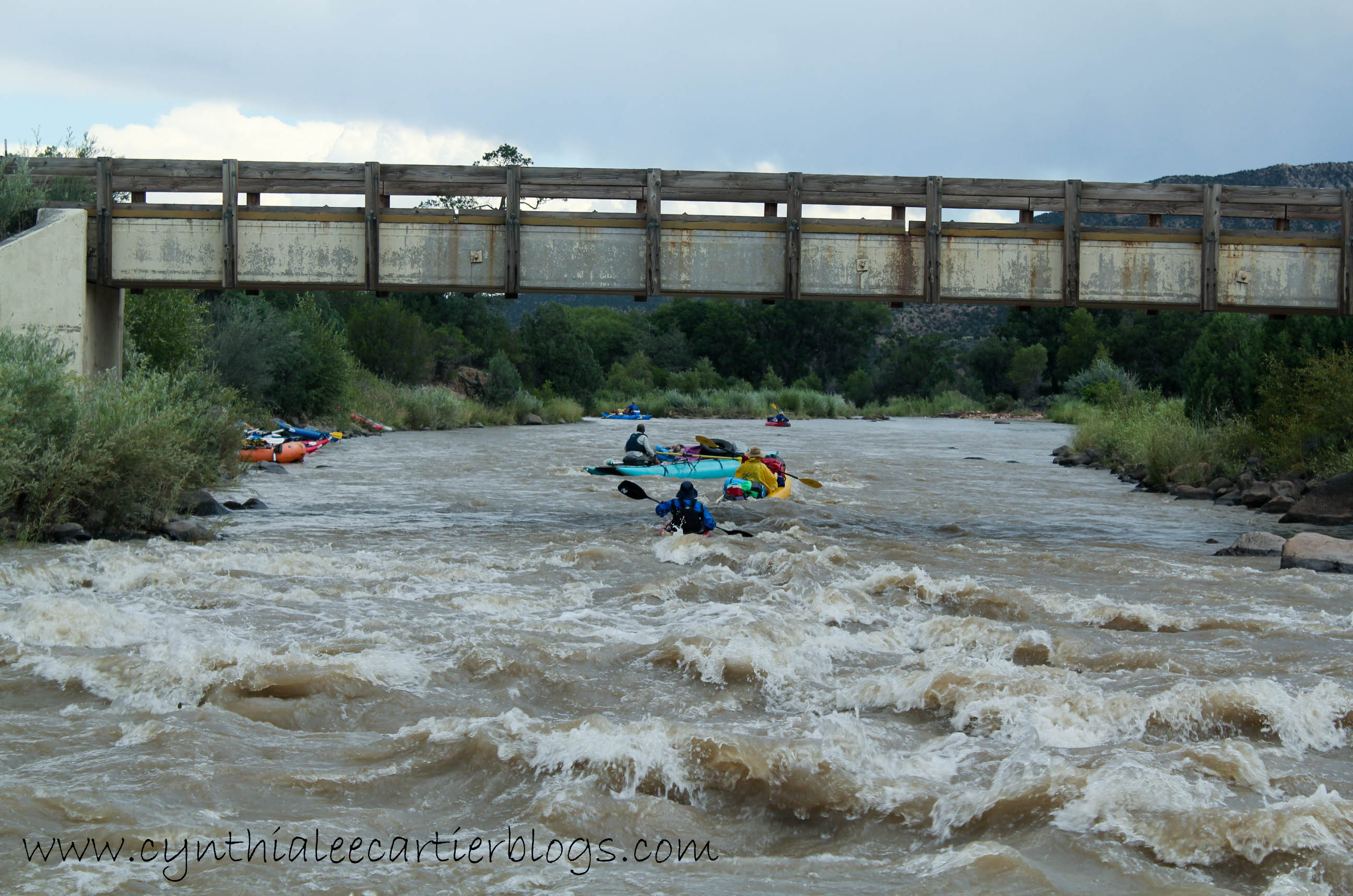 View of Class Three Rapid on the Rio Chama River in New Mexico