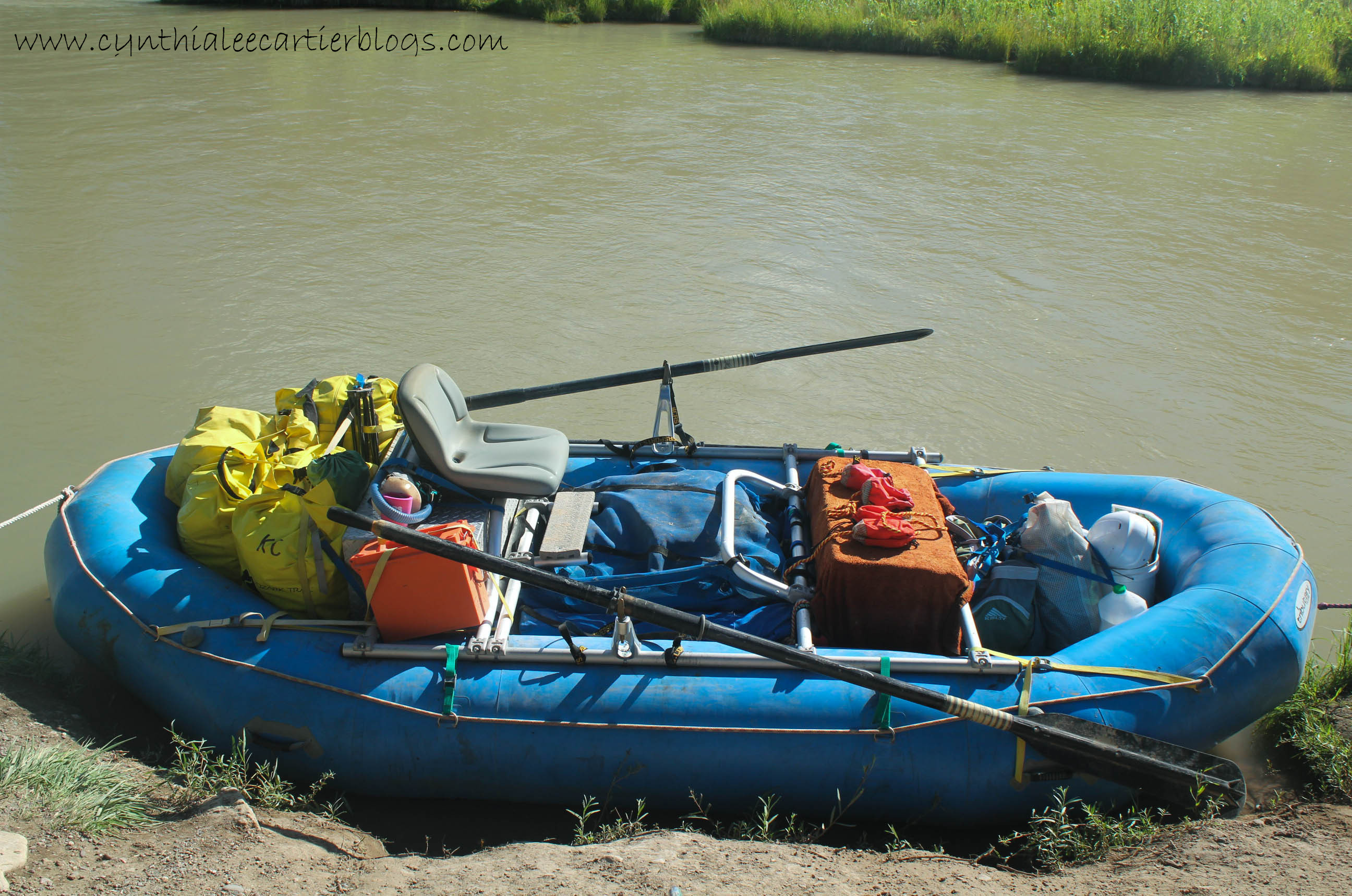 River raft ready for the Rio Chama.