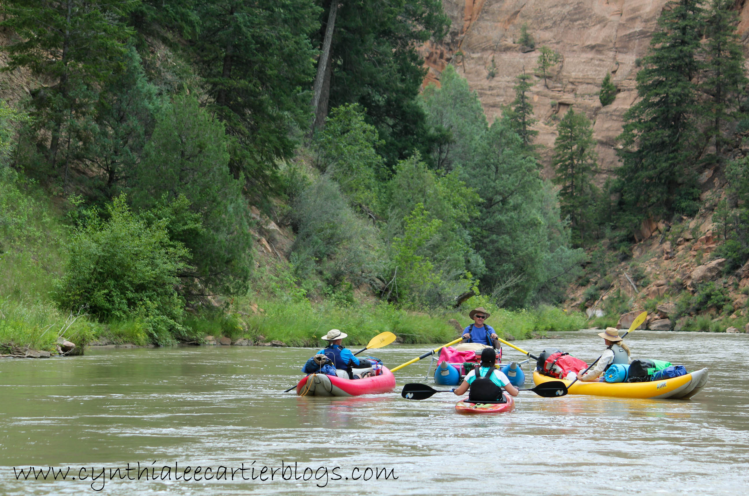 4 River Rafters on the Rio Chama