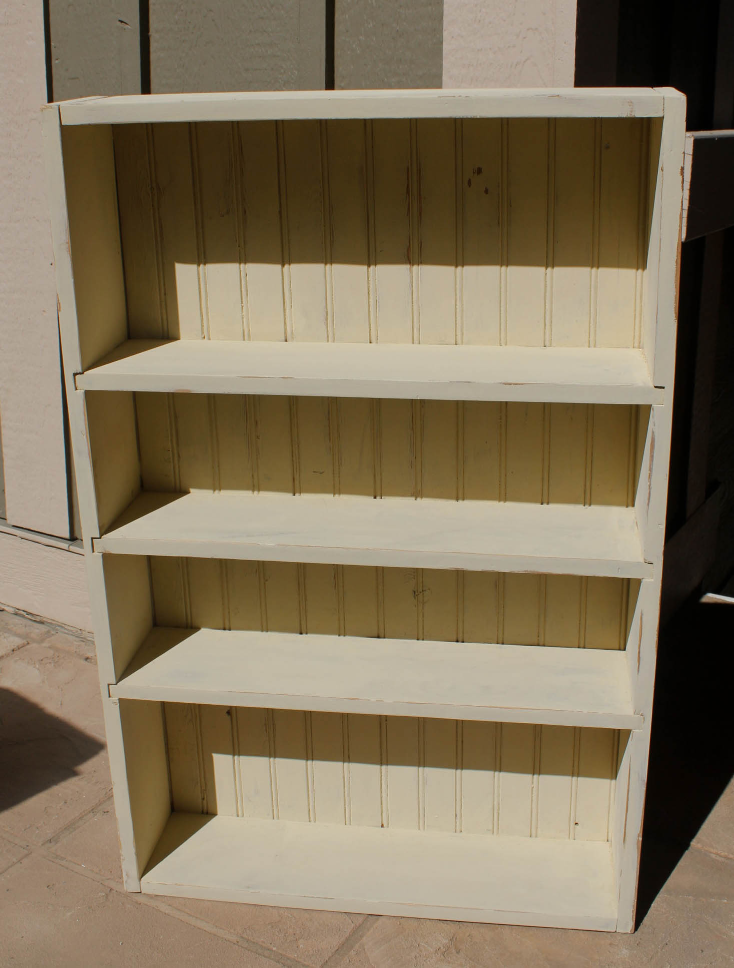 I Painted The Cabinet With Two Coats Of A Buttermilk Colored Milk Paint And  Then Sanded It.